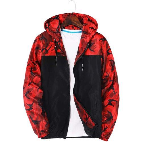 Veste à capuche coupe-vent à camouflage(sans t-shirt) - SHEIN - Modalova