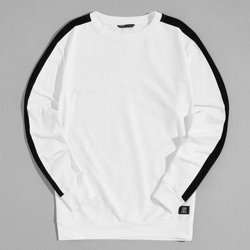 Sweat-shirt bicolore - SHEIN - Modalova