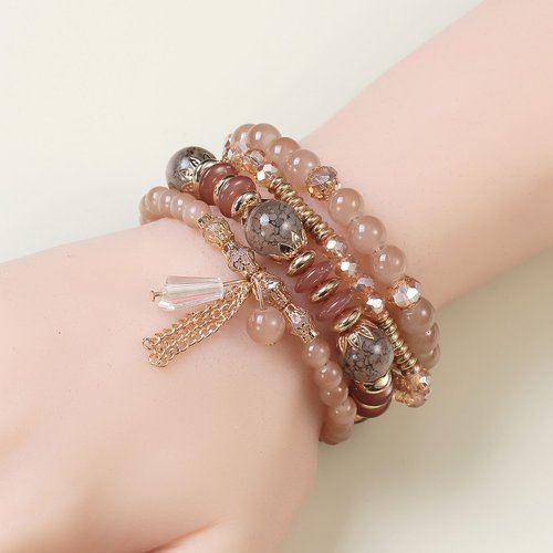 Pièces Bracelet perlé avec chaîne - SHEIN - Modalova