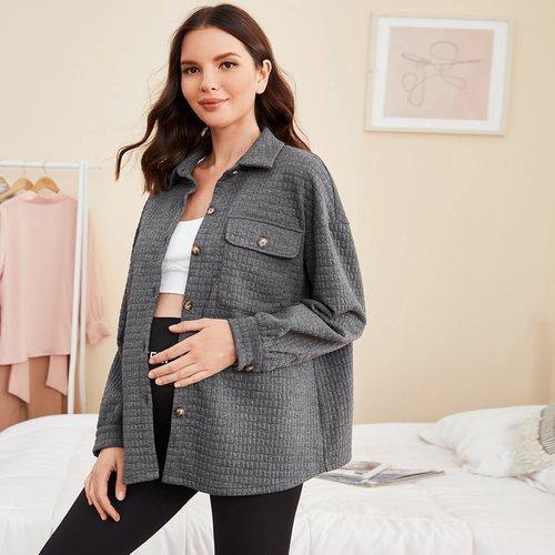 Manteau de grossesse texturé - SHEIN - Modalova