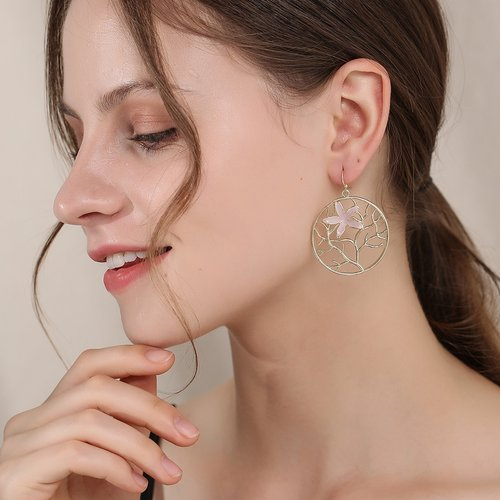Pendants d'oreilles à fleur - SHEIN - Modalova