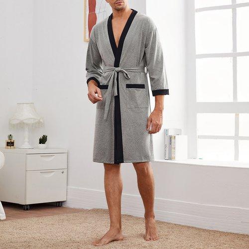 Robe de chambre ceinturée - SHEIN - Modalova