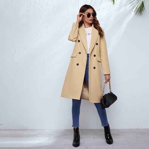 Manteau avec boutons - SHEIN - Modalova