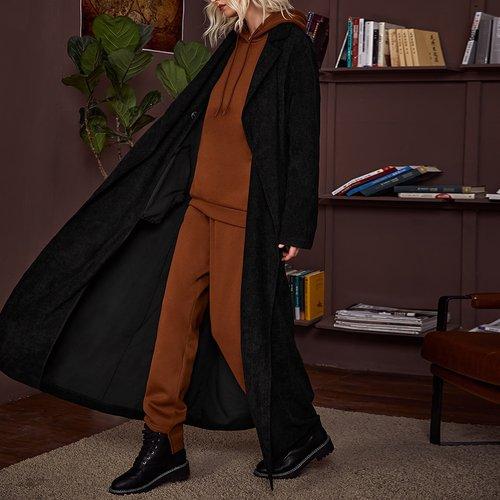 Manteau long en velours côtelé - SHEIN - Modalova