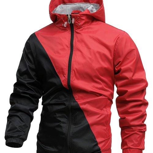 Veste de sport zippée bicolore - SHEIN - Modalova