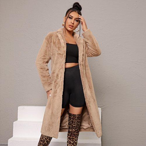 Manteau en fourrure synthétique - SHEIN - Modalova
