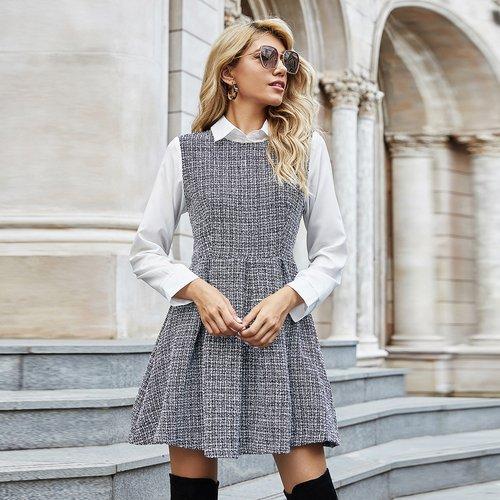 Robe en tweed 2 en 1 - SHEIN - Modalova