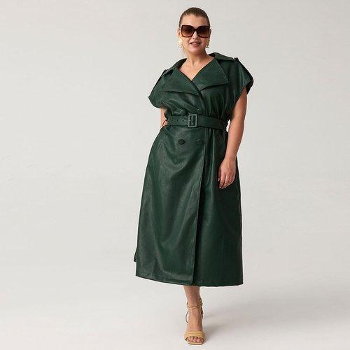 Robe chemise en cuir PU - SHEIN - Modalova