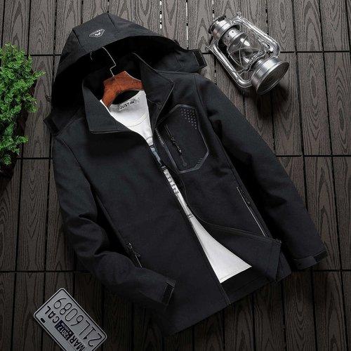 Veste à capuche zippée avec applique - SHEIN - Modalova