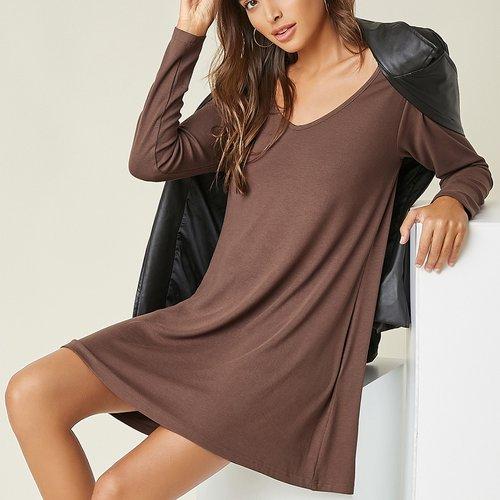 Robe t-shirt avec encolure V - SHEIN - Modalova