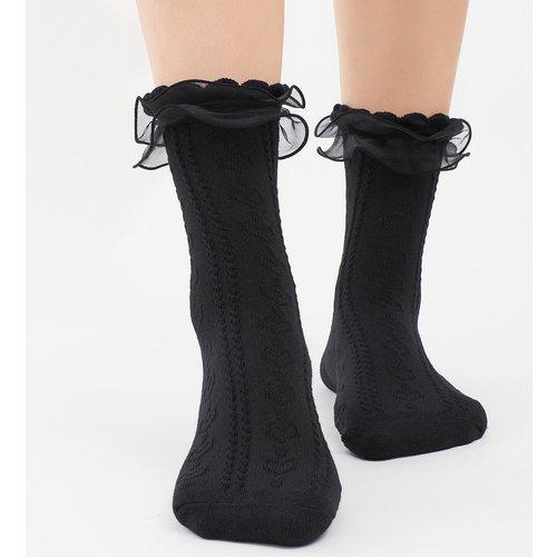 Chaussettes avec tulle - SHEIN - Modalova