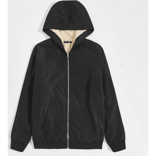 Veste à capuche thermique zippée - SHEIN - Modalova