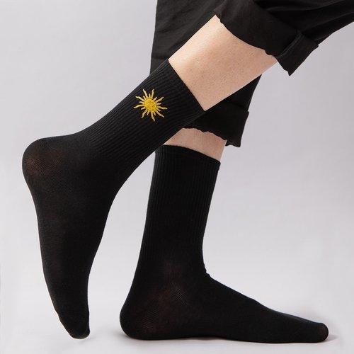 Chaussettes avec imprimé soleil - SHEIN - Modalova