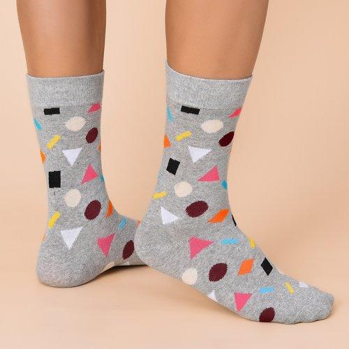 Chaussettes avec imprimé géométrique - SHEIN - Modalova
