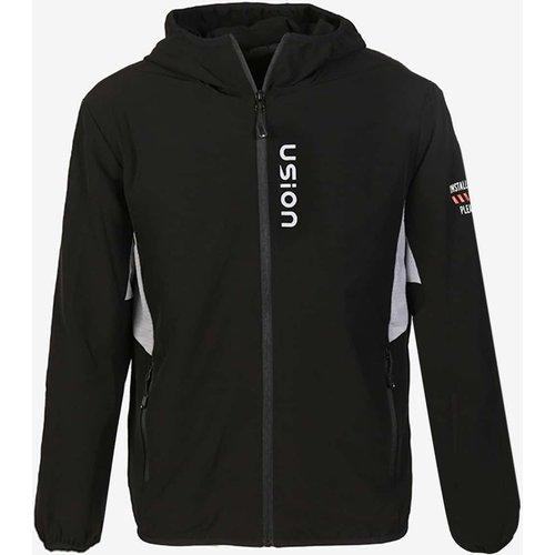 Veste de sport à capuche zippée avec motif lettre - SHEIN - Modalova