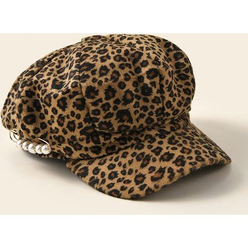 Casquette gavroche à motif léopard - SHEIN - Modalova
