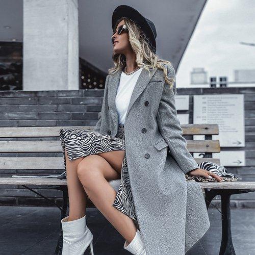 Manteau fendu avec boutons - SHEIN - Modalova