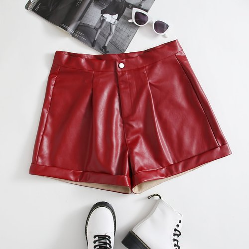 Short en cuir PU - SHEIN - Modalova