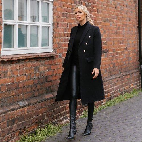 Manteau col châle - SHEIN - Modalova