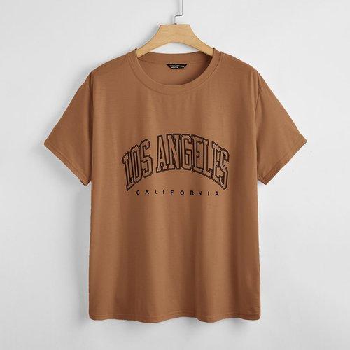 T-shirt avec lettres - SHEIN - Modalova