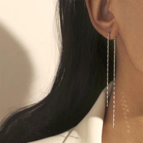 Boucles d'oreilles longues métalliques - SHEIN - Modalova