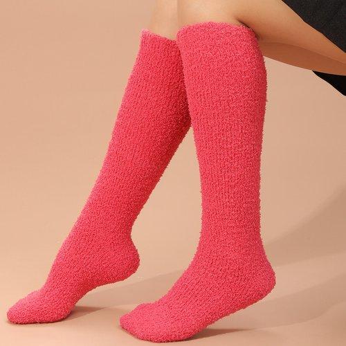 Chaussettes montantes unicolores - SHEIN - Modalova