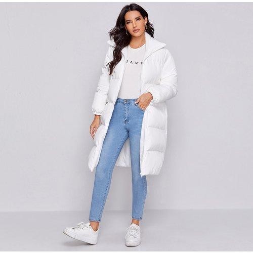Manteau doudoune avec zip - SHEIN - Modalova