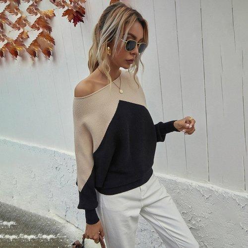 Pull oversize bicolore - SHEIN - Modalova