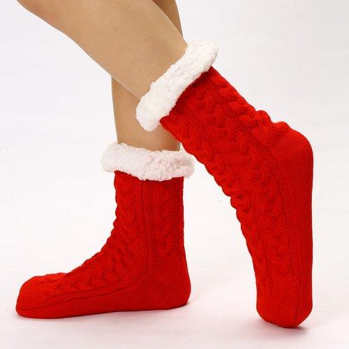 Chaussettes en tissu duveteux - SHEIN - Modalova