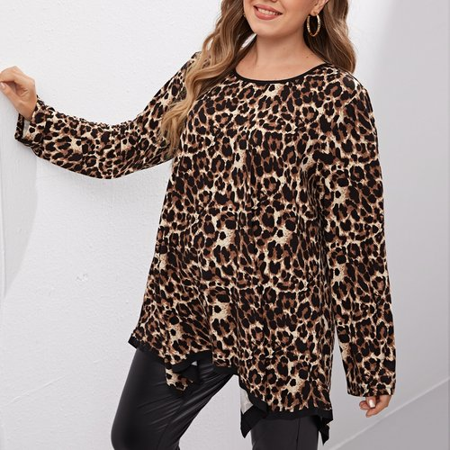 T-shirt tunique à imprimé - SHEIN - Modalova