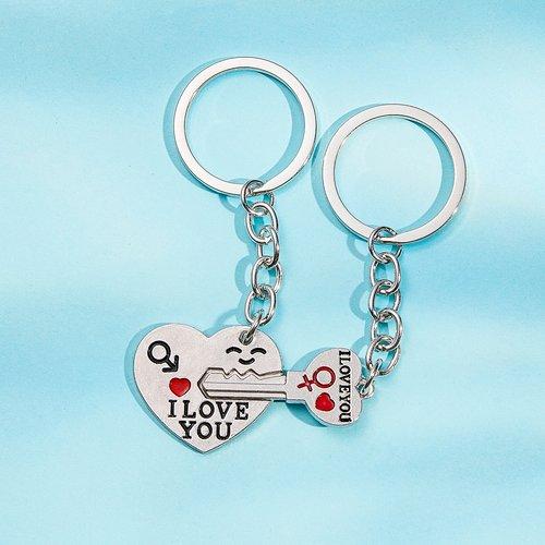 Pièces Porte-clés à cœur et clé - SHEIN - Modalova
