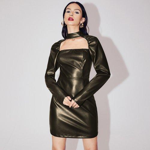 Robe en cuir PU - SHEIN - Modalova
