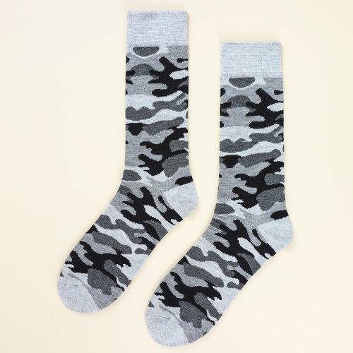 Chaussettes avec motif camouflage - SHEIN - Modalova