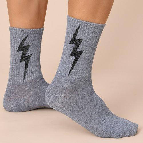 Chaussettes avec motif éclair - SHEIN - Modalova