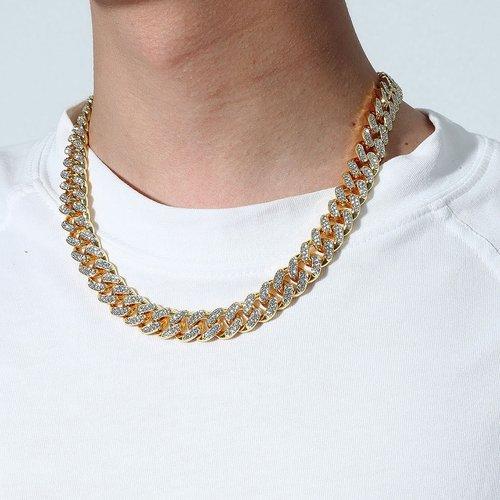 Collier à chaîne avec strass - SHEIN - Modalova