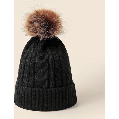 Bonnet en tricot avec pompon - SHEIN - Modalova