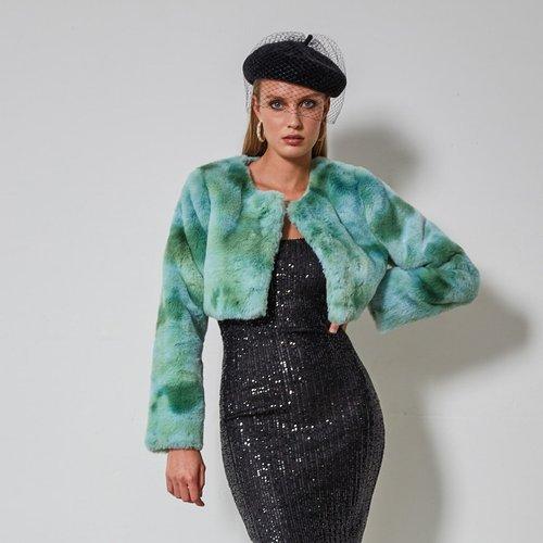 Manteau court en fourrure synthétique - SHEIN - Modalova