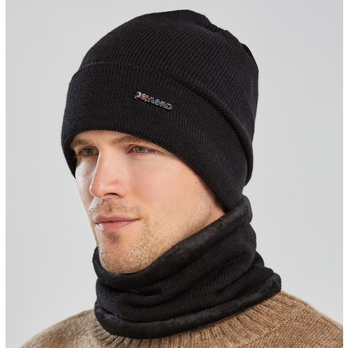 Bonnet en tricot avec lettre & Écharpe - SHEIN - Modalova