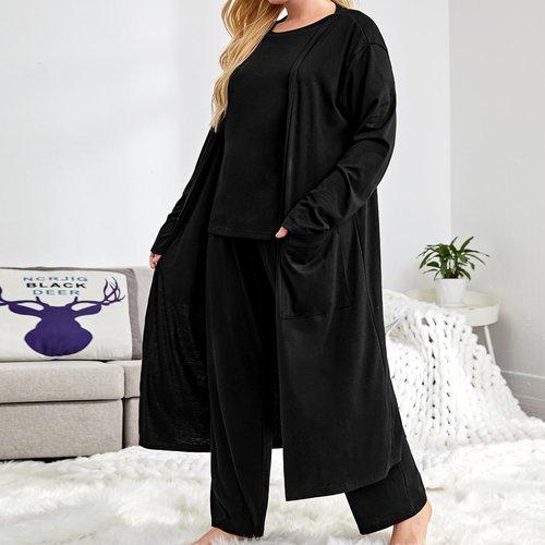 Pièces Set de robe de chambre avec poche - SHEIN - Modalova