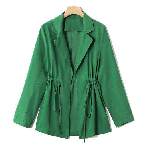 Manteau unicolore avec cordon - SHEIN - Modalova