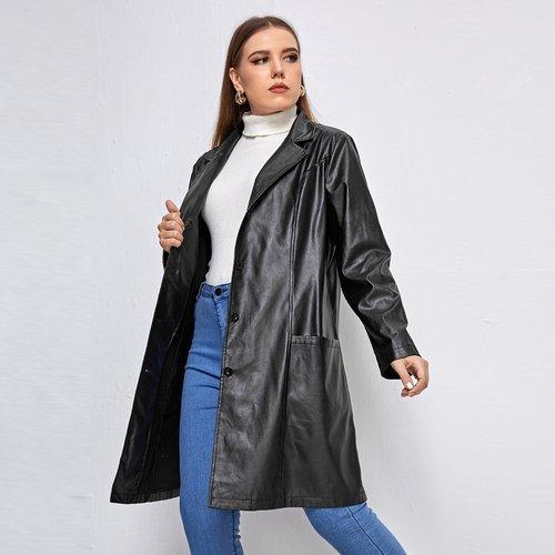 Manteau en cuir PU - SHEIN - Modalova