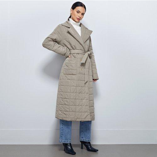 Manteau doudoune matelassée avec ceinture - SHEIN - Modalova