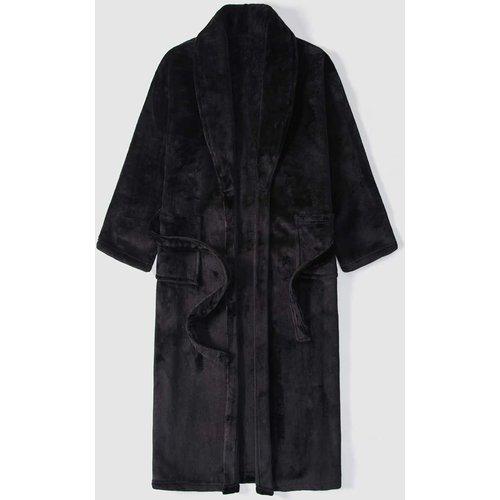 Robe de chambre en flanelle ceinturée - SHEIN - Modalova