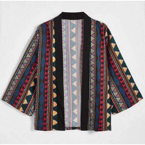 Kimono avec motif losange - SHEIN - Modalova