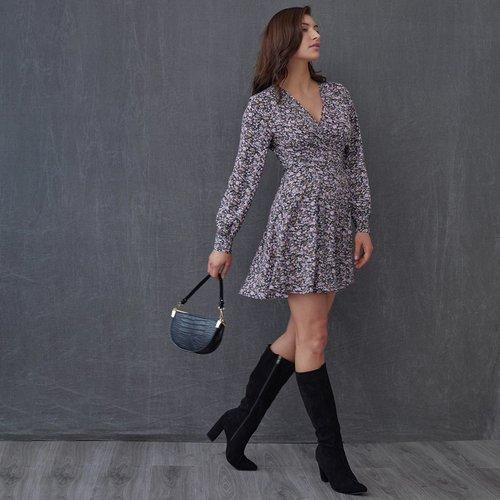 Robe portefeuille fleurie - SHEIN - Modalova