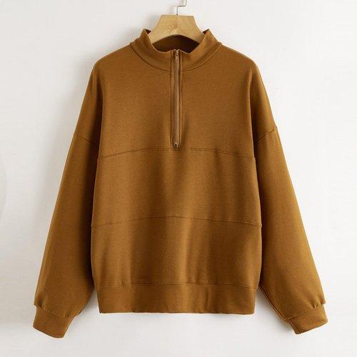 Sweat-shirt oversize zippé - SHEIN - Modalova