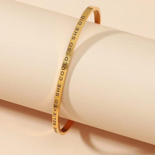 Bracelet manchette à lettre - SHEIN - Modalova