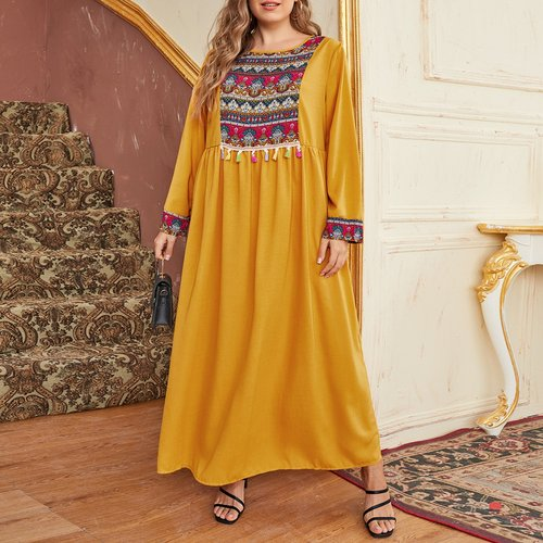 Robe longue à franges - SHEIN - Modalova