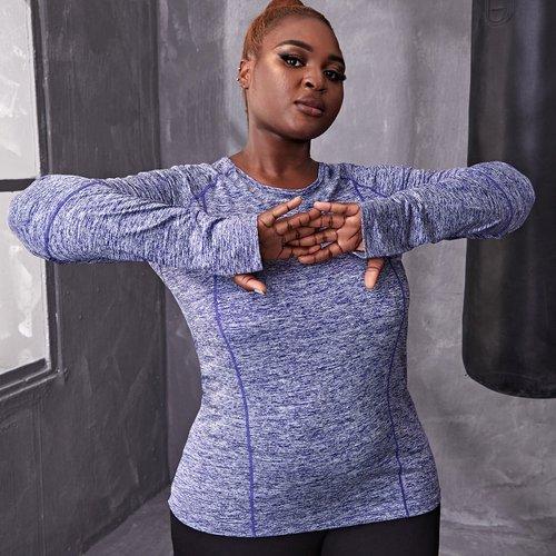 T-shirt de sport chiné - SHEIN - Modalova