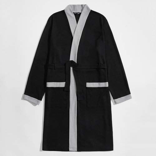 Peignoir avec poche et ceinture - SHEIN - Modalova